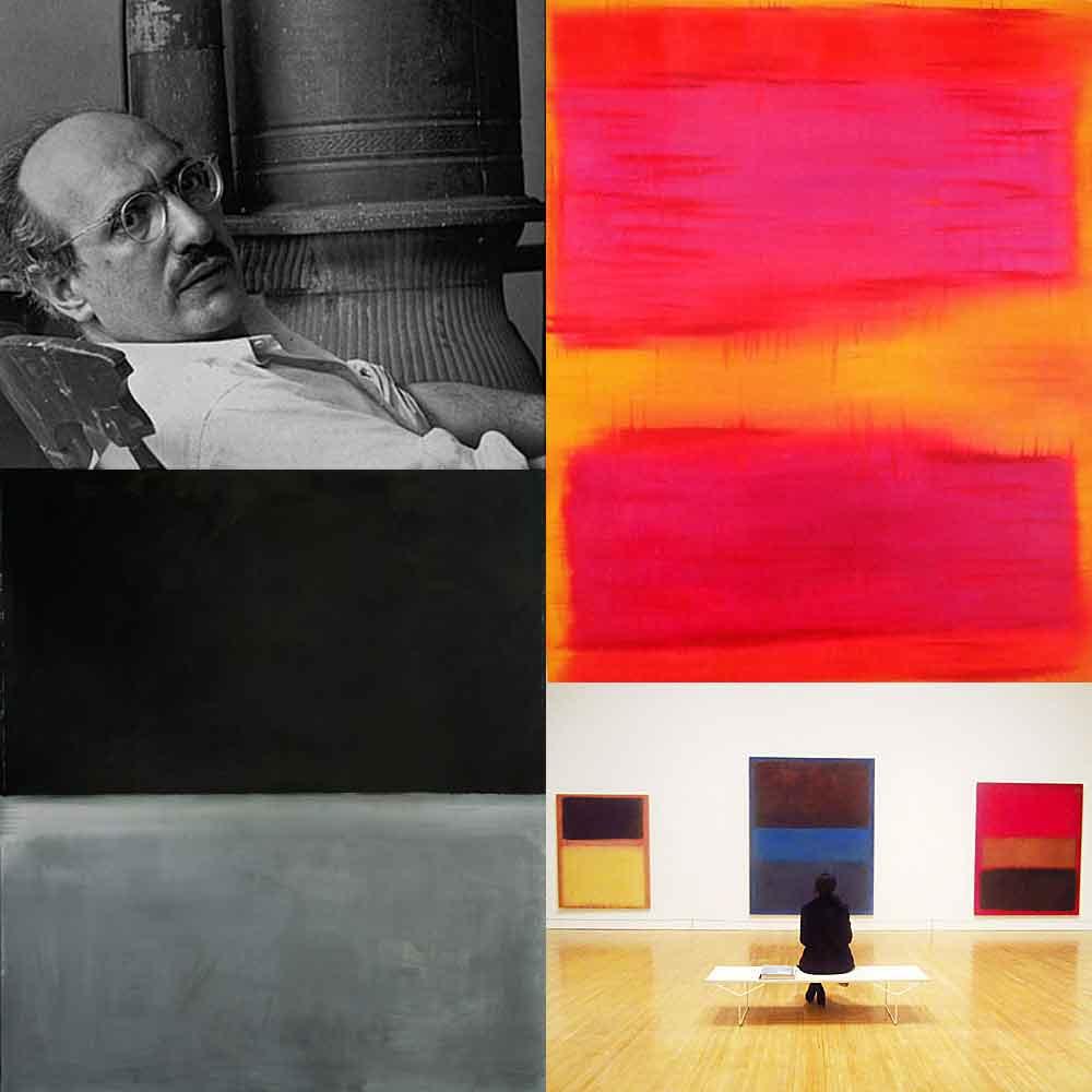 Drie afbeeldingen werk een portret (Rothko)
