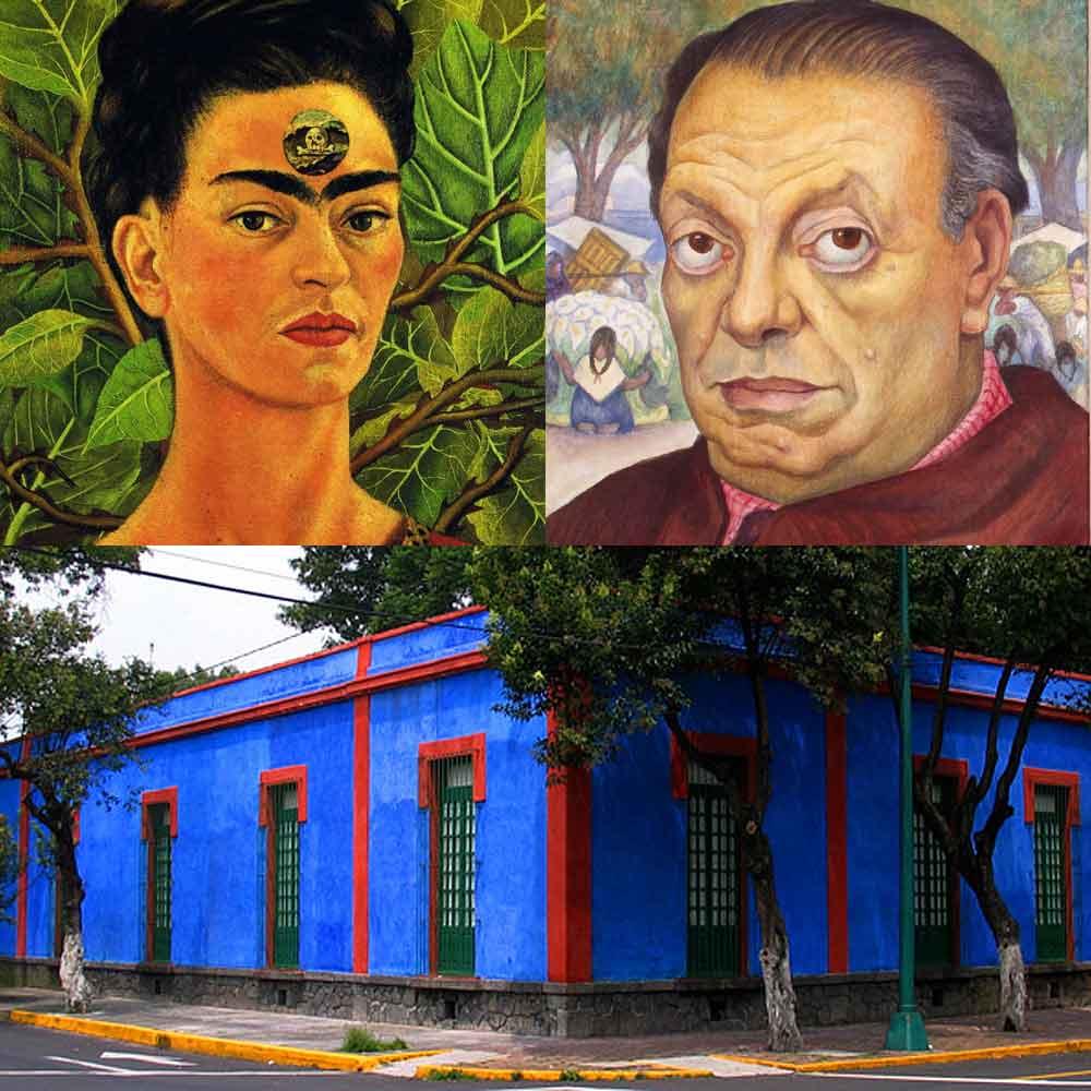 Kahlo Rivera blauwe huis